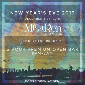 McCarren Hotel Rooftop NYE Party