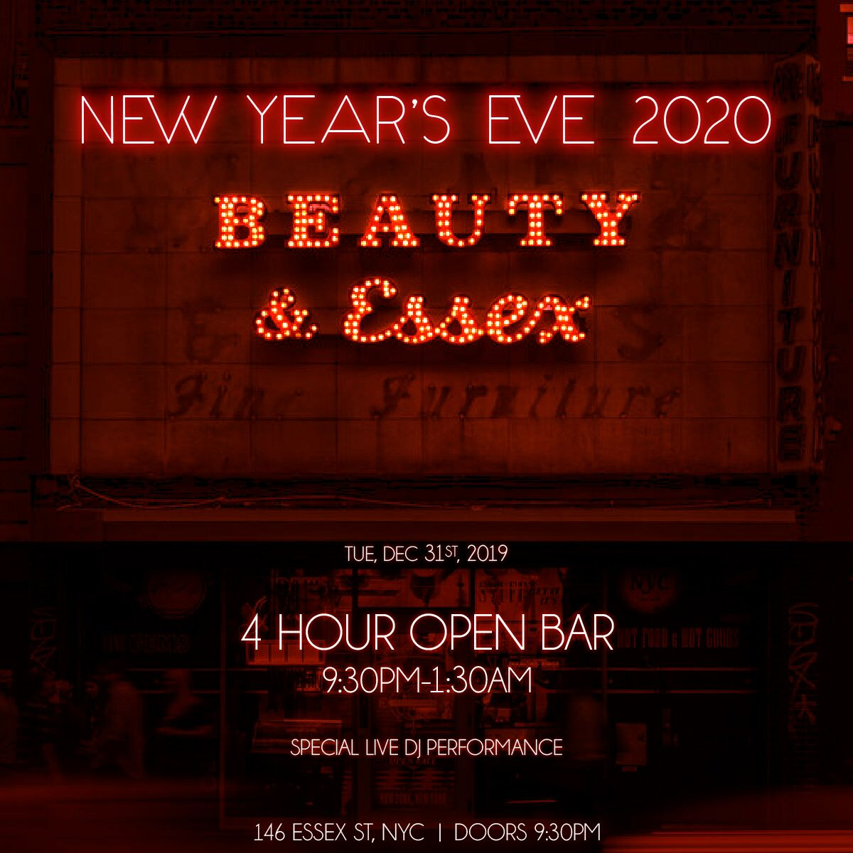 Beauty & Essex | VIP NYE Party | Buy Tickets Now