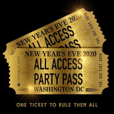 All Access Party Pass DC NYE Party Pass
