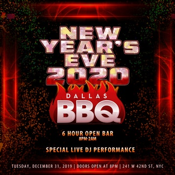 Dallas BBQ New Years Eve Times Square