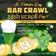 Nashville St Patrick's Day Bar Crawl