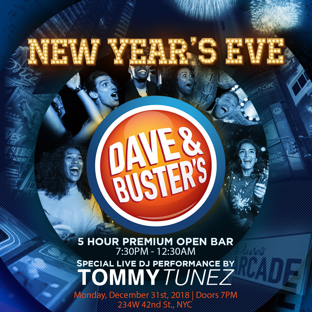 Dave Amp Buster S Vip Nye Party Buy Tickets Now