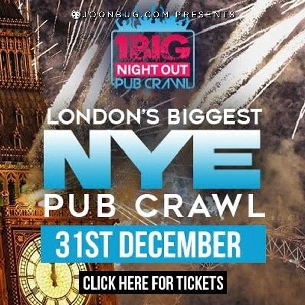 West End London New Years Eve Bar Crawl 12/31/18