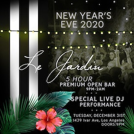 Sunset Room x Le Jardin NYE 12/31/19