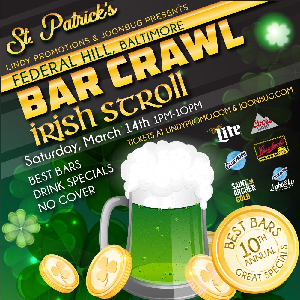 Federal Hill Halloween Bar Crawl 2020 Baltimore St Patrick's Bar Crawl | Baltimore St. Patrick's Day