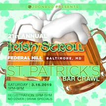 Baltimore Fed Hill St. Patrick's Bar Crawl 3/16/19