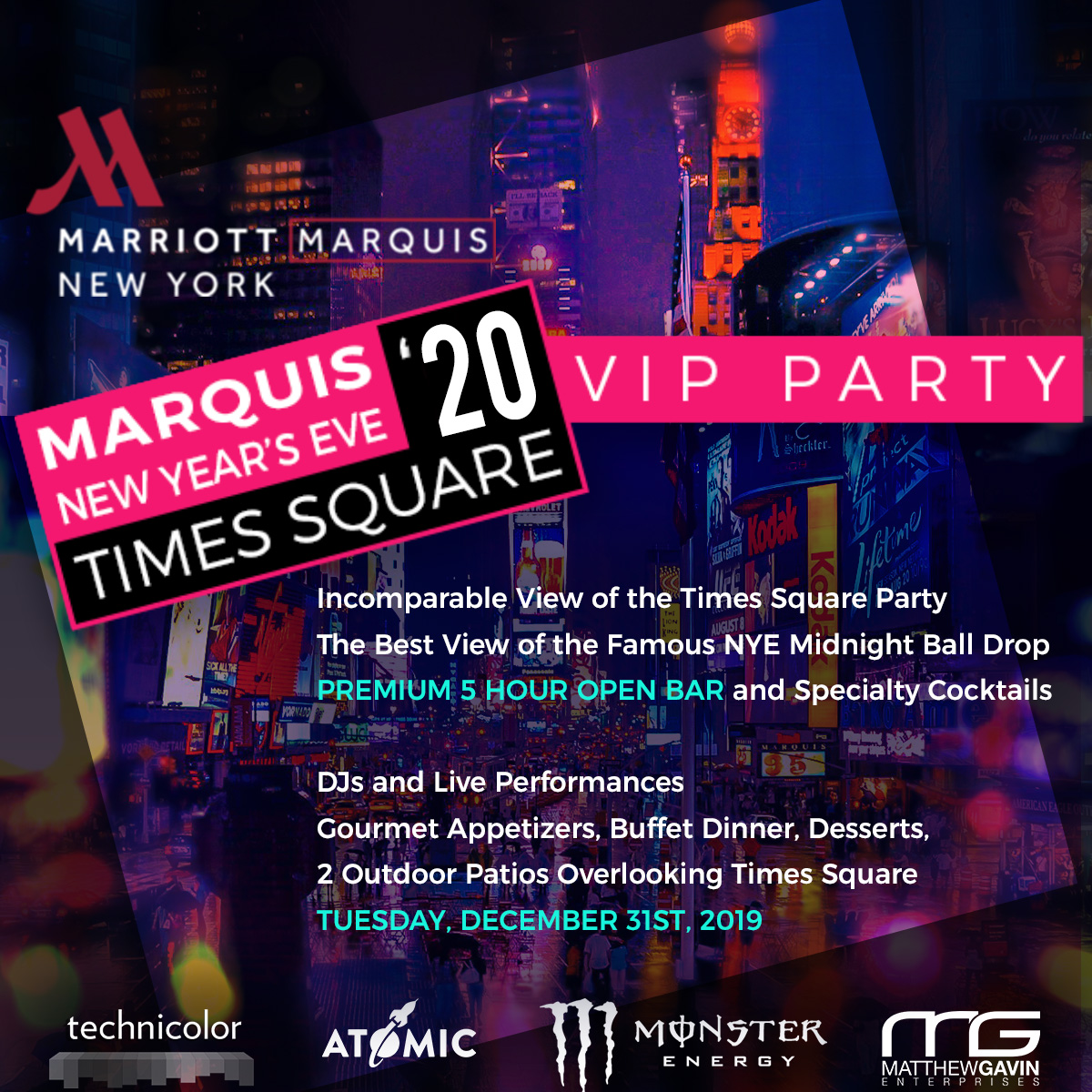 Marriott Marquis New Year's Eve VIP Party | VIP NYE Party
