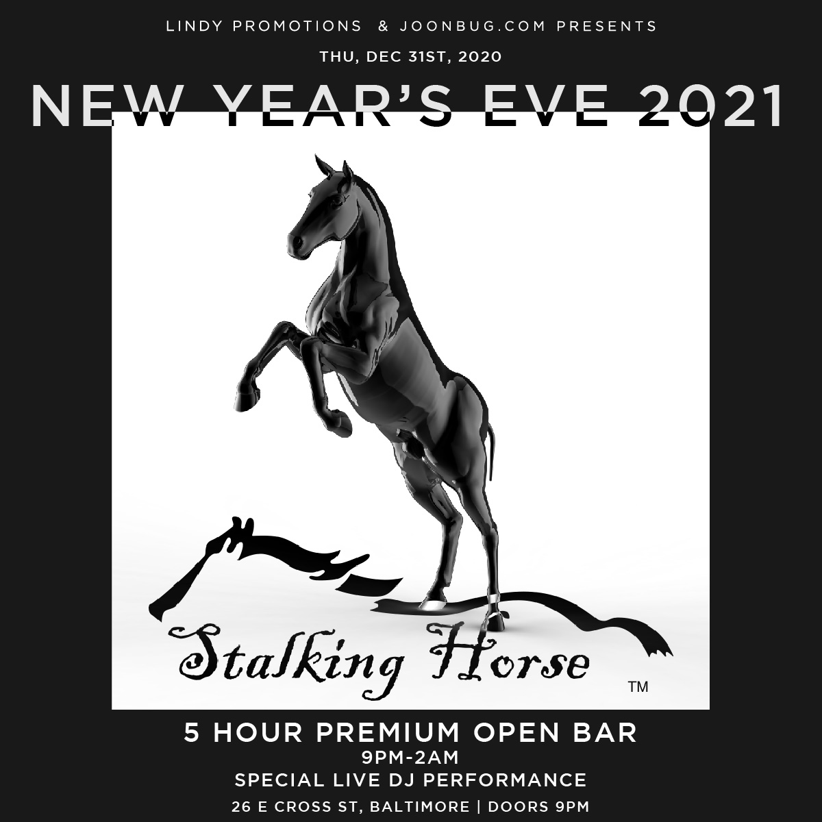 Stalking Horse | Baltimore New Years Eve Parties | Buy ...