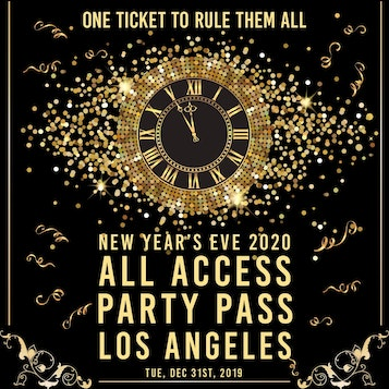 All Access Party Pass LA NYE Party Pass