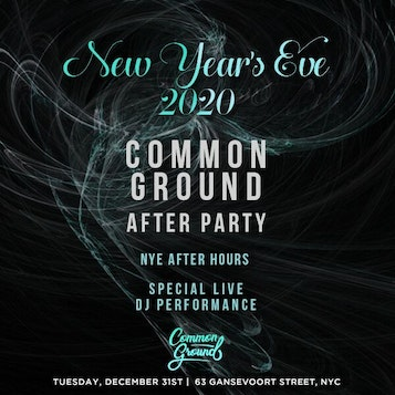 Common Ground NYE After Party